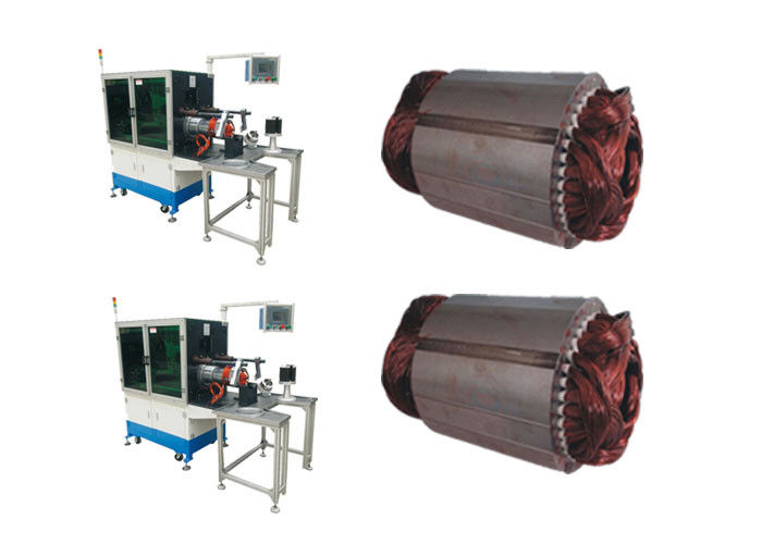 Fan Motor Horizontal Type Stator Coil Winding Inserting Machine SMT - KW300